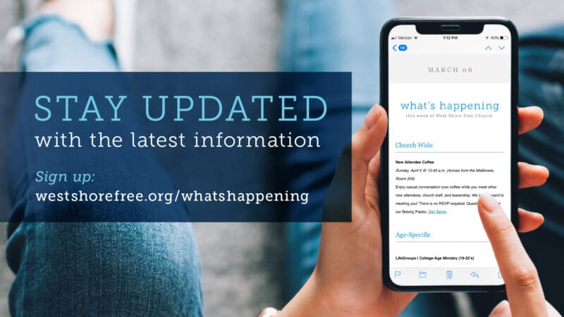 What's Happening Email Newsletter